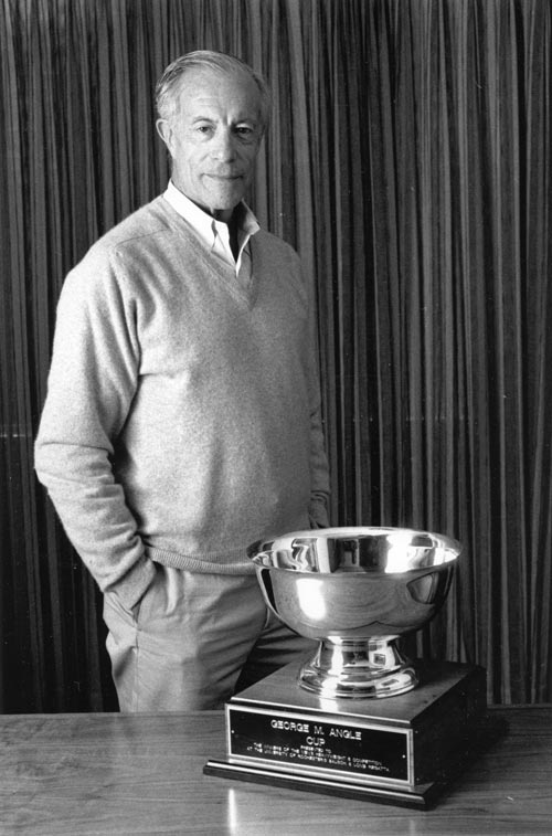 Angle with the George M. Angle Cup (1990)
