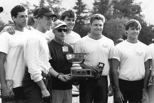 Angle with members of the Men's Rowing Team (1992)